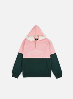 Stussy - Block Hooded Jersey, Pine/Pink 1