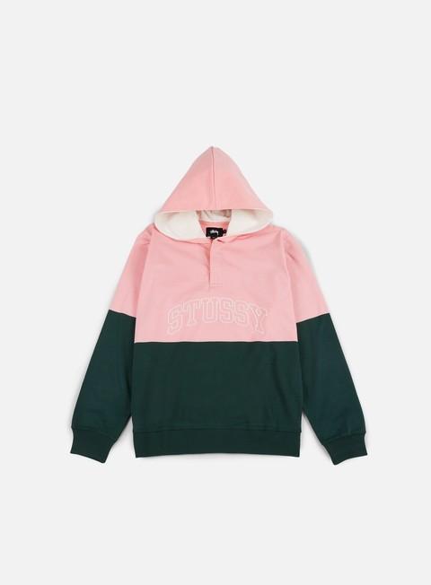 felpe stussy block hooded jersey pine pink