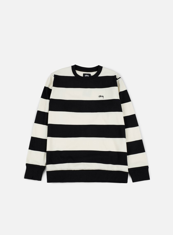 STUSSY Striped Jersey Sweatpants - Black 6nQjH