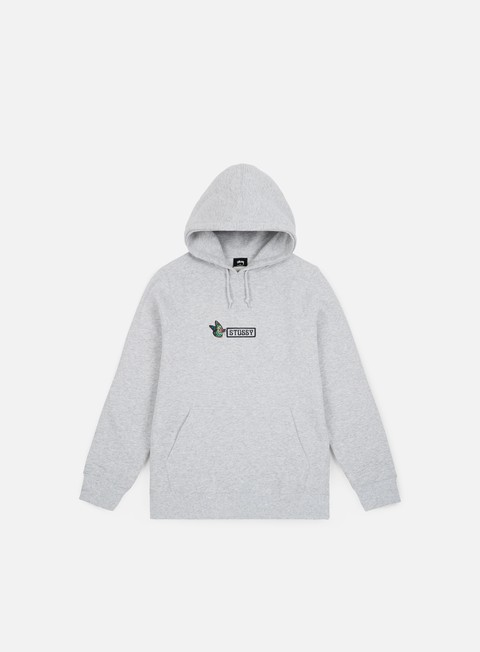 felpe stussy butterfly app hoodie grey heather