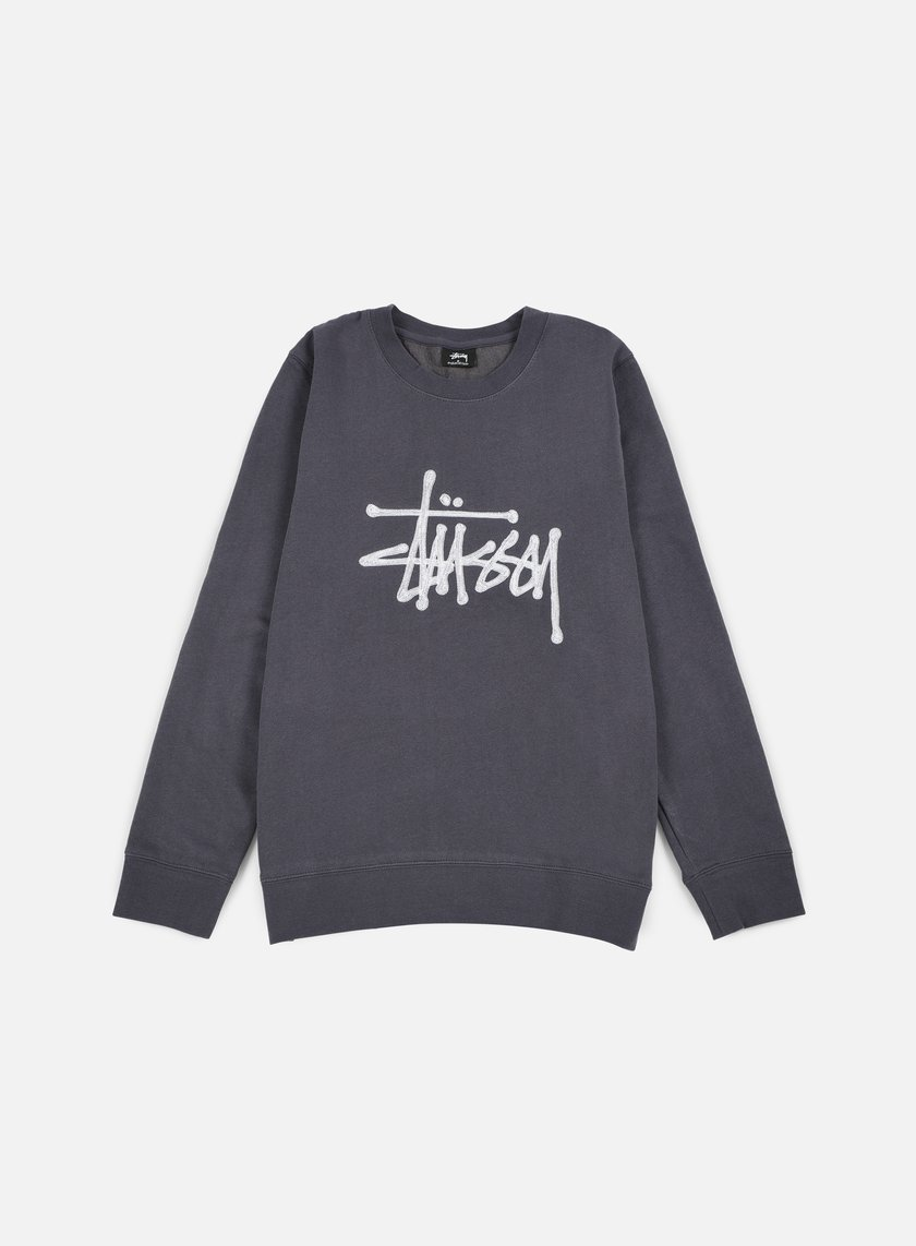 Stussy - Chain Stitch Applique Crewneck, Midnight
