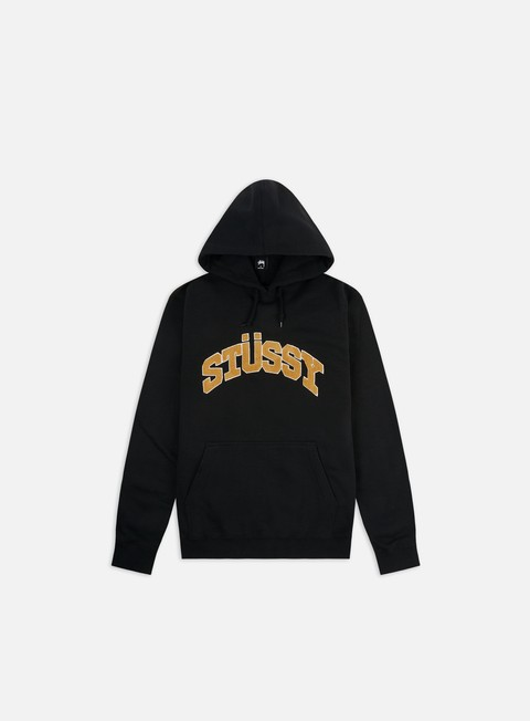 Hooded Sweatshirts Stussy Chenille Arch Applique Hoodie