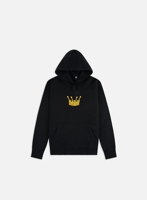 4 Hoodie Sweatshirt in Black Cotton NEW Stussy No