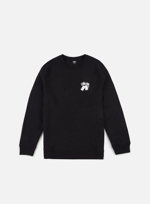 felpe stussy dominos crewneck black