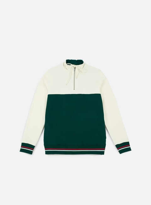 felpe stussy drawcord mock neck green