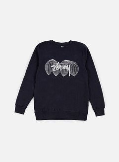 Stussy - Global Crewneck, Navy 1