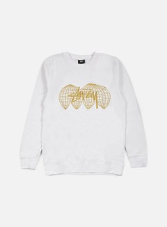 Stussy - Global Crewneck, White 1