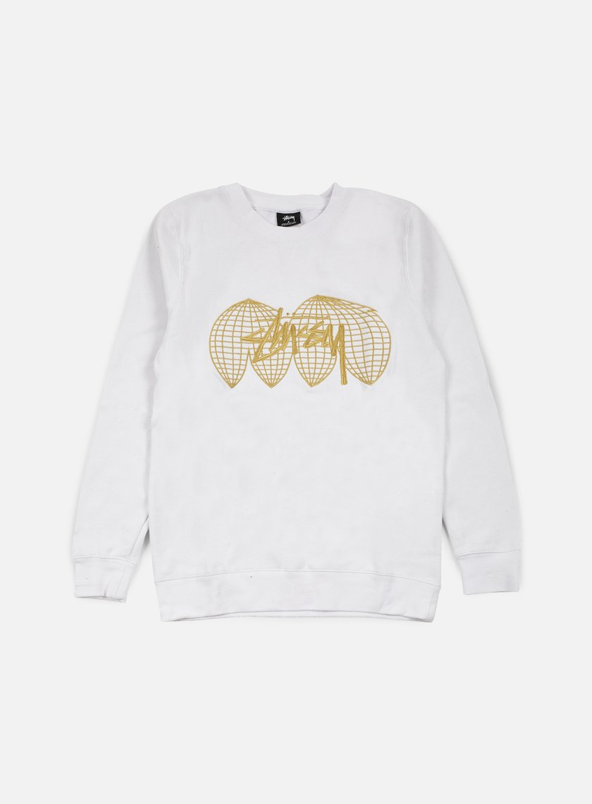 Stussy - Global Crewneck, White