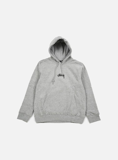 felpe stussy hd stock hoodie grey heather