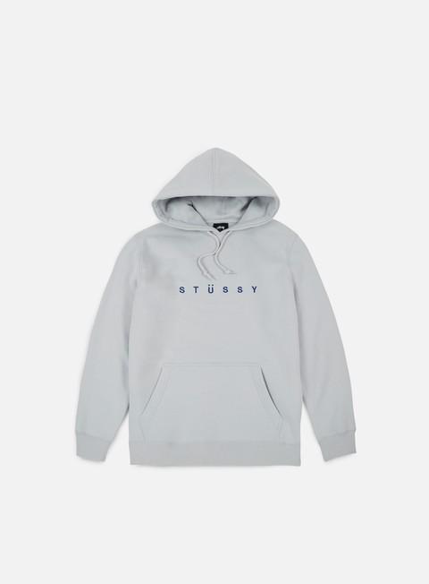 felpe stussy helvetica spread applique hoodie fog