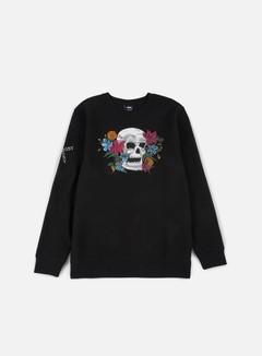 Stussy - Hippie Skull Crewneck, Black 1