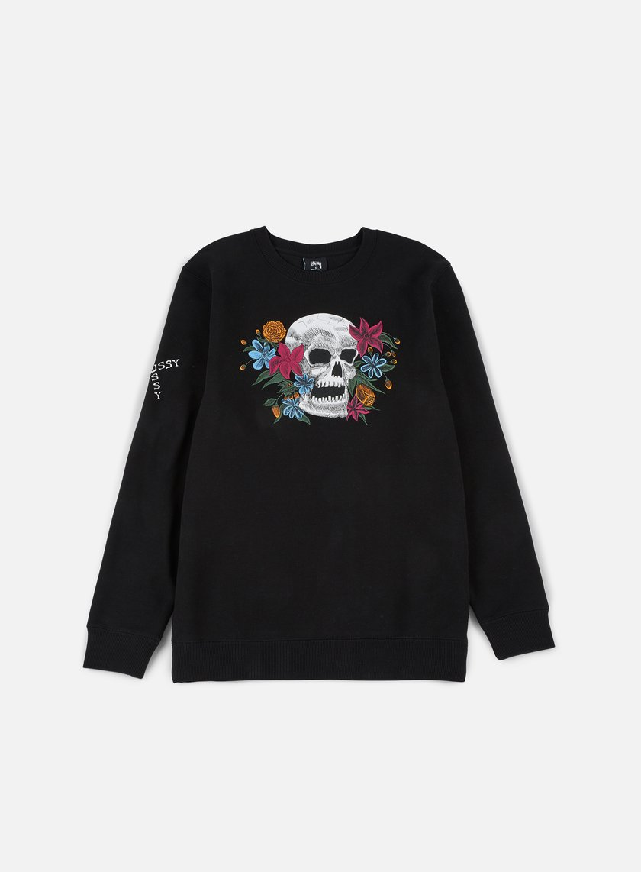 Stussy - Hippie Skull Crewneck, Black