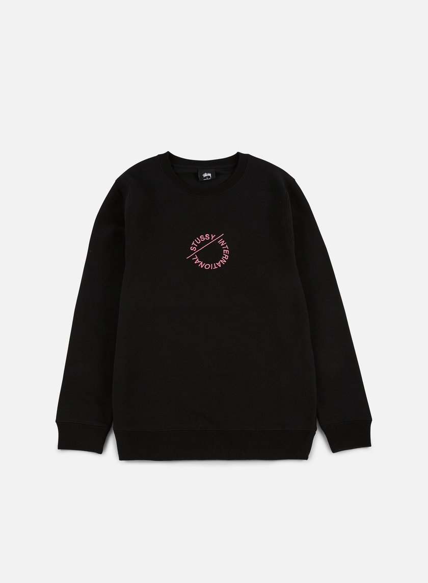 Stussy - International Circle Applique Crewneck, Black