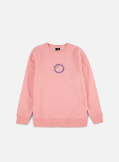 Stussy - International Circle Applique Crewneck, Dusty Rose
