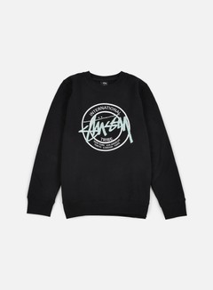 Stussy - IST Dot Applique Crewneck, Black 1