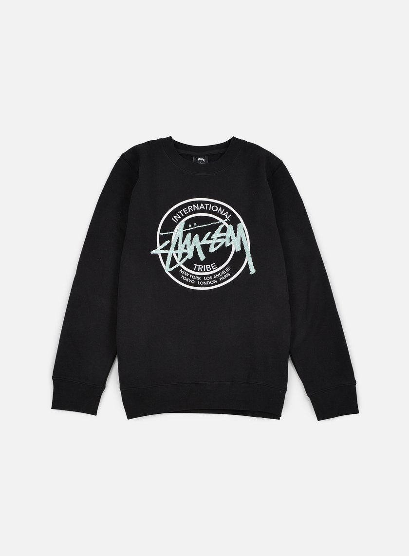 Stussy - IST Dot Applique Crewneck, Black