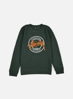 Stussy - IST Dot Applique Crewneck, Pine