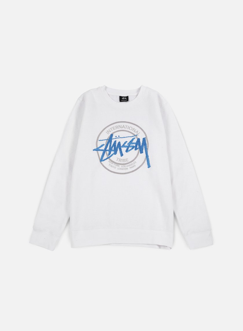 Stussy - IST Dot Applique Crewneck, White