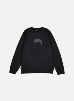 Stussy - New Stock Applique Crewneck, Black 1
