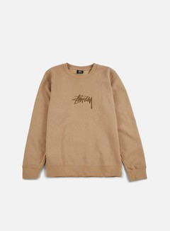 Stussy - New Stock Applique Crewneck, Light Brown 1