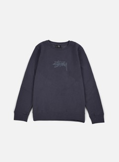 Stussy - New Stock Applique Crewneck, Midnight 1