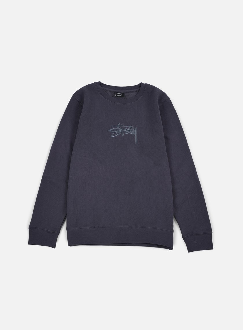 Stussy - New Stock Applique Crewneck, Midnight