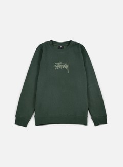 Stussy - New Stock Applique Crewneck, Pine 1