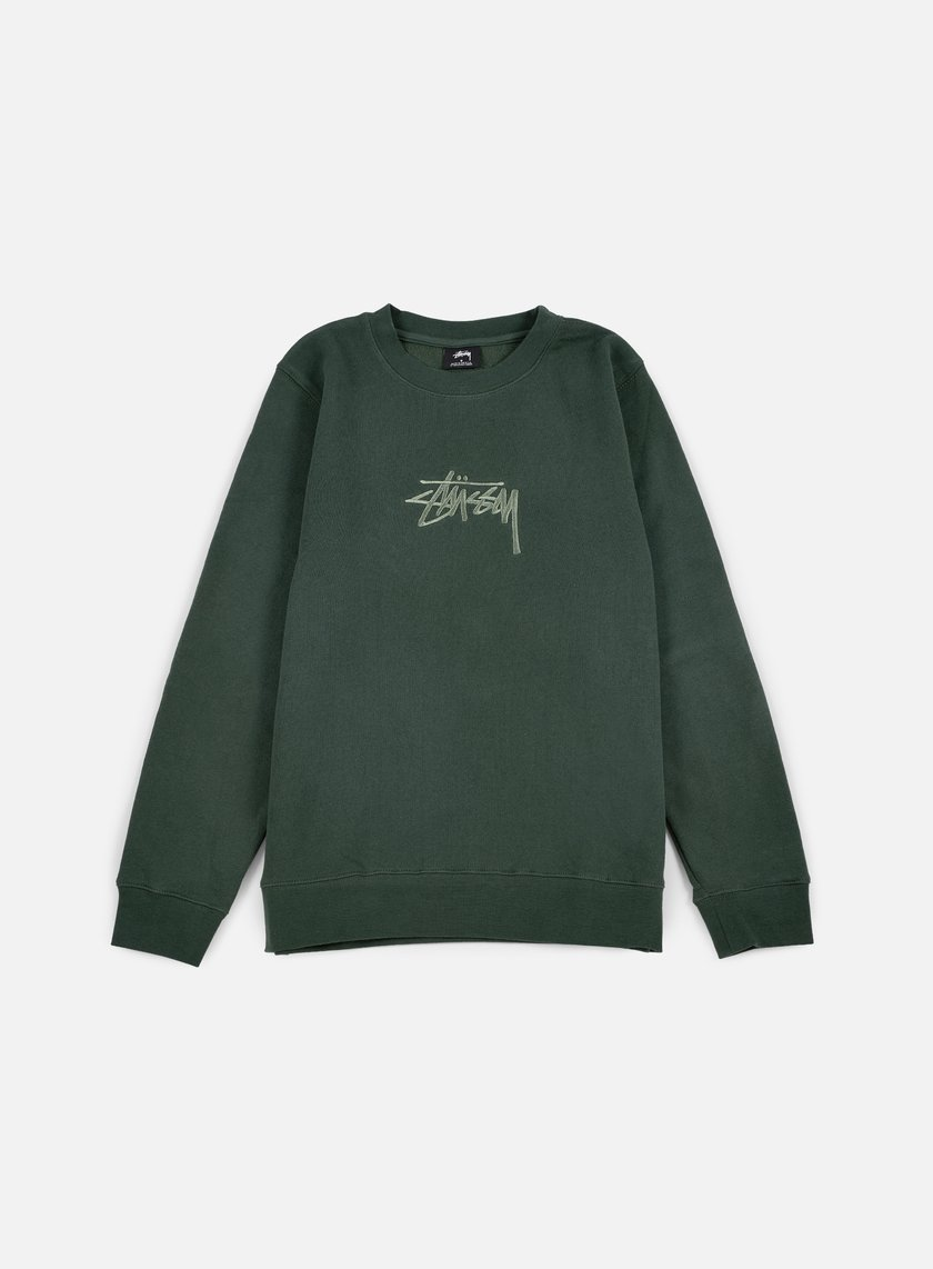 Stussy - New Stock Applique Crewneck, Pine