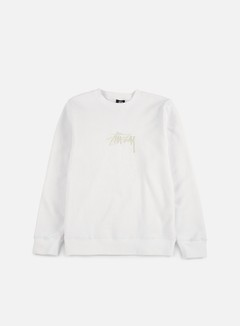 Stussy - New Stock Applique Crewneck, White