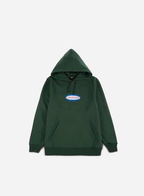 Hooded Sweatshirts Stussy Oval Logo Applique Hoodie