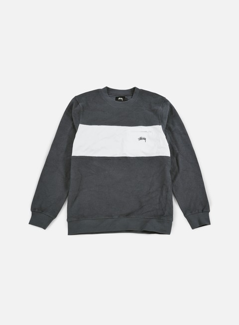 felpe stussy pocket panel crewneck charcoal