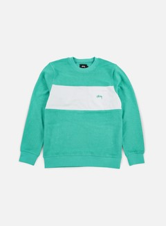 Stussy - Pocket Panel Crewneck, Teal 1