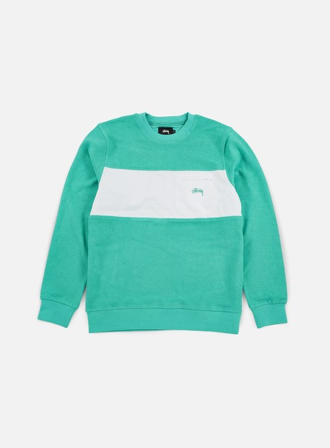 felpe stussy pocket panel crewneck teal