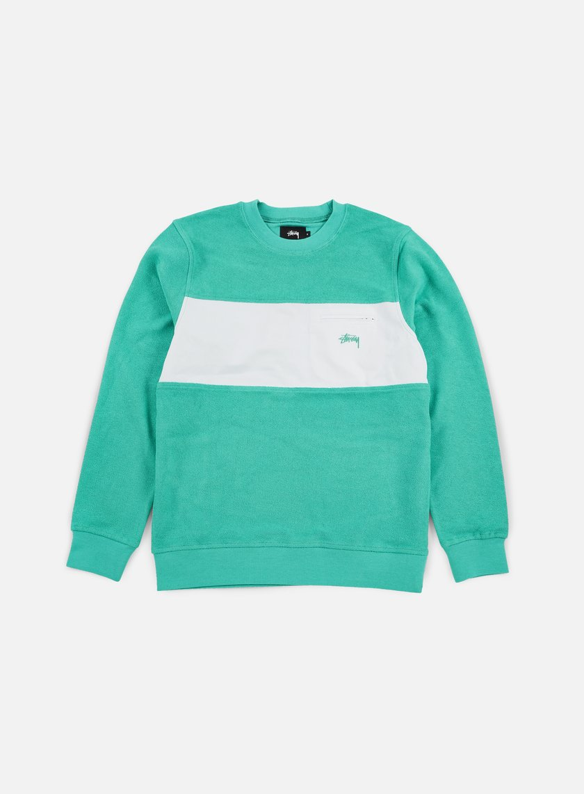 Stussy - Pocket Panel Crewneck, Teal