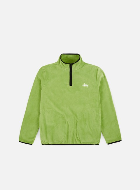 Stussy Polar Fleece Half Zip Mock Neck
