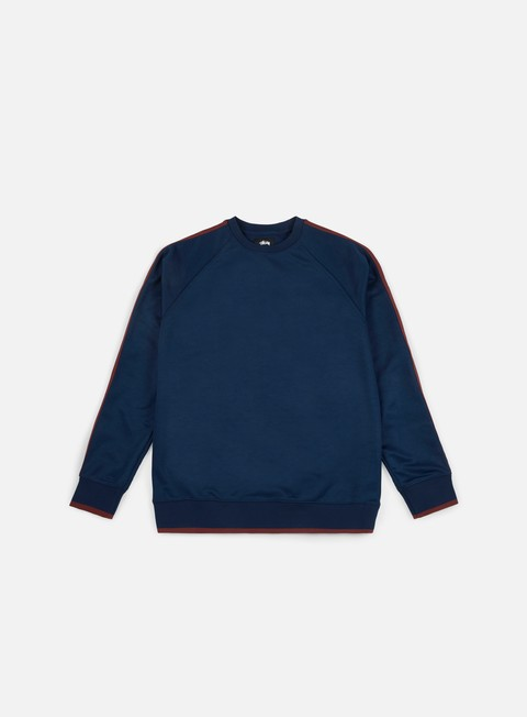 Sale Outlet Crewneck Sweatshirts Stussy Poly Track Crewneck
