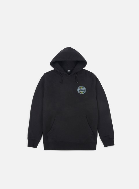 felpe stussy reggae dot hoodie black