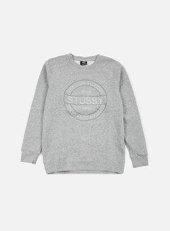 Stussy - Round Stamp Crewneck, Grey Heather 1