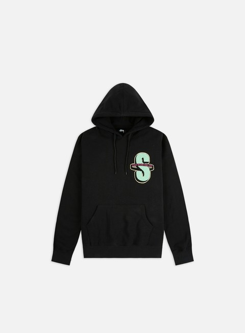Hooded Sweatshirts Stussy S Applique Fleece Hoodie
