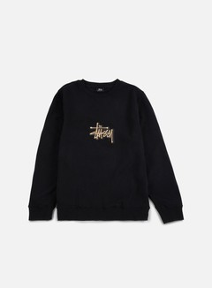 Stussy - Shadow Stock Applique Crewneck, Black 1
