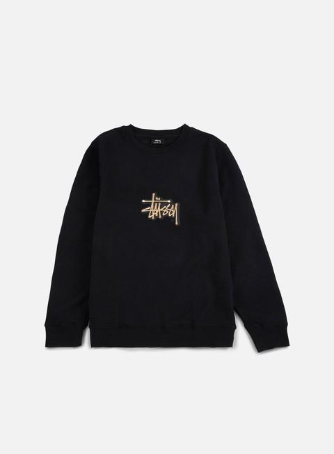 Sale Outlet Crewneck Sweatshirts Stussy Shadow Stock Applique Crewneck