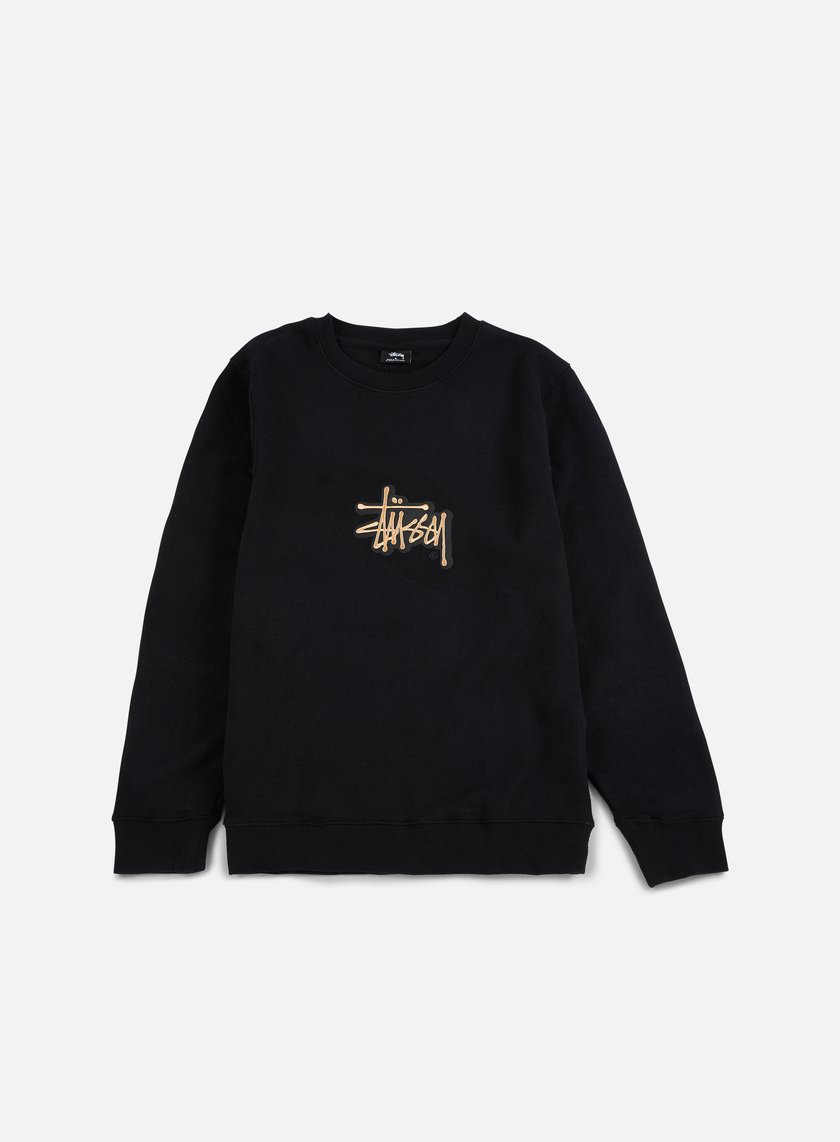 Stussy - Shadow Stock Applique Crewneck, Black