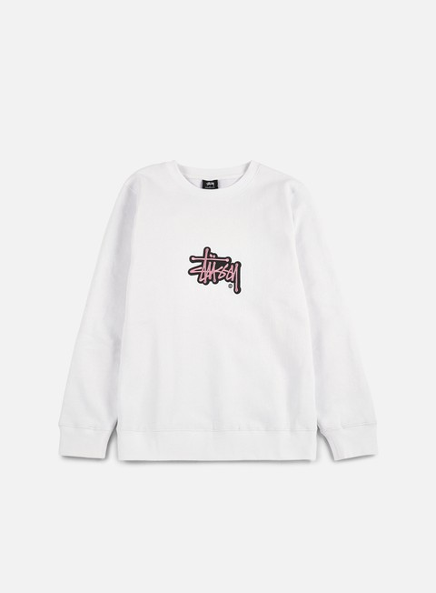 felpe stussy shadow stock applique crewneck white