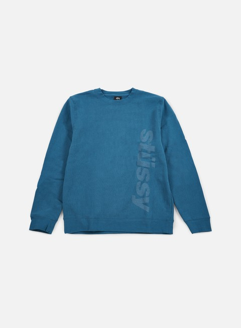 felpe stussy shift crewneck blue