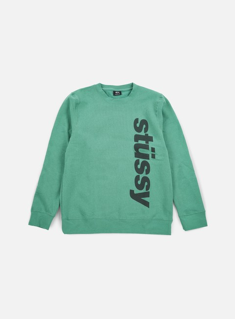 felpe stussy shift crewneck green