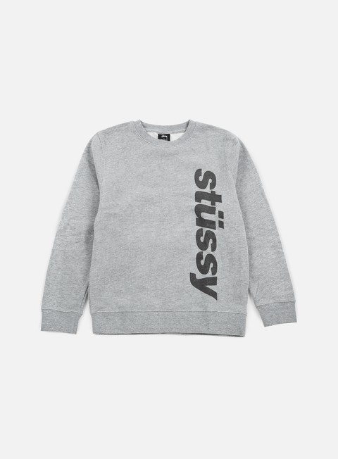 felpe stussy shift crewneck grey heather