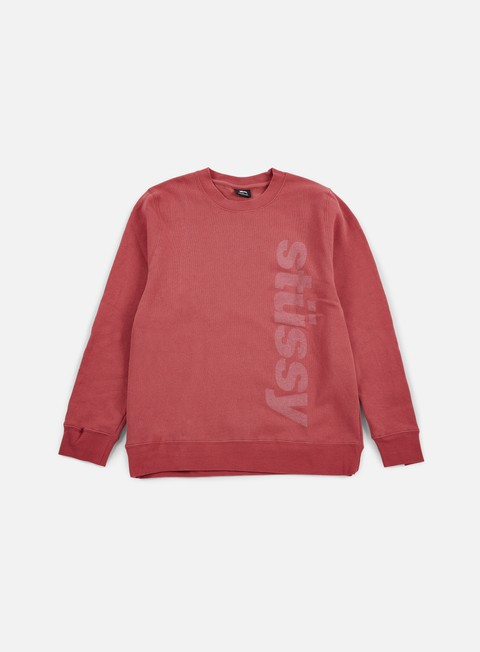 felpe stussy shift crewneck salmon