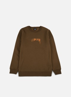 Stussy - Smooth Stock Applique Crewneck, Chocolate