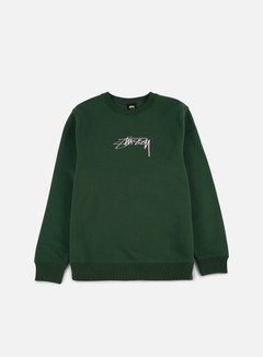 Stussy - Smooth Stock Applique Crewneck, Dark Forest