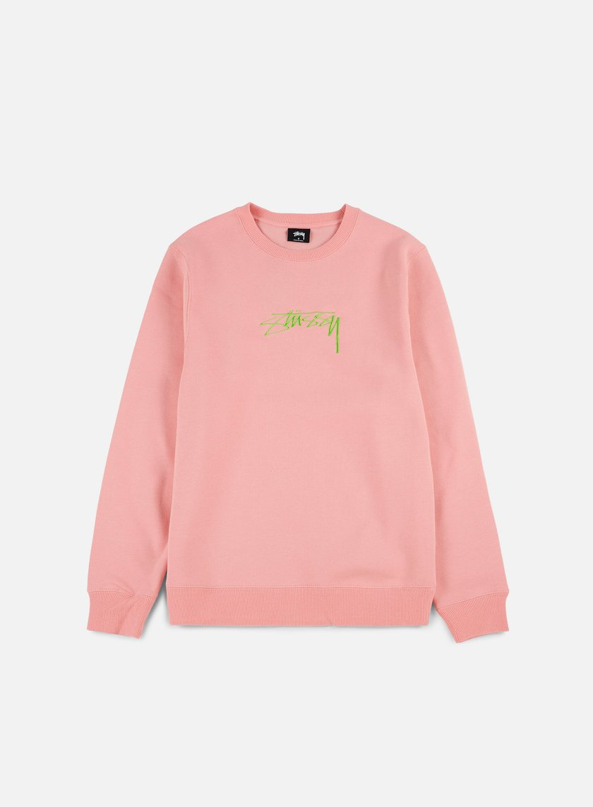 Stussy - Smooth Stock Applique Crewneck, Dusty Rose
